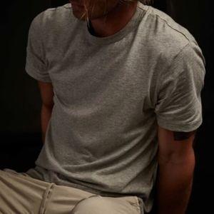 Standard James Perse Short Sleeve Crew Neck Heather Cotton Grey T-shirt 3 Large